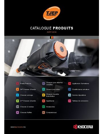 Catalogue produits TJEP BE