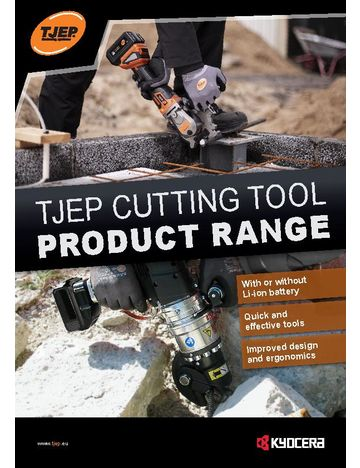 TJEP Cutting tool product range brochure - UK